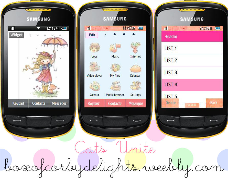 samsung corby android themes
